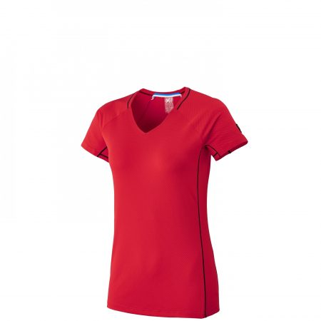 Tee-Shirts Millet Femme | TRILOGY DELTA TS SS W Rouge
