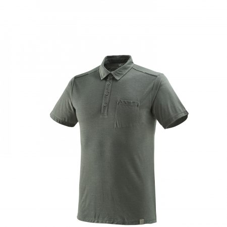 Tee-Shirts Millet Homme | Imja Wool Polo Castle Gray Gris