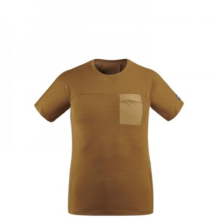 Tee-Shirts Millet Homme | TRILOGY SIGNATURE WOOL TS SS M Marron